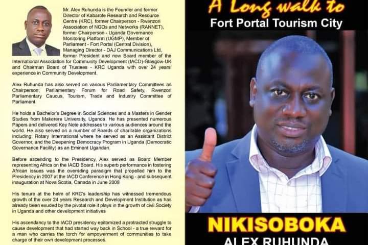 Fort Portal City MP Alex Ruhunda Launches His Manifesto Today