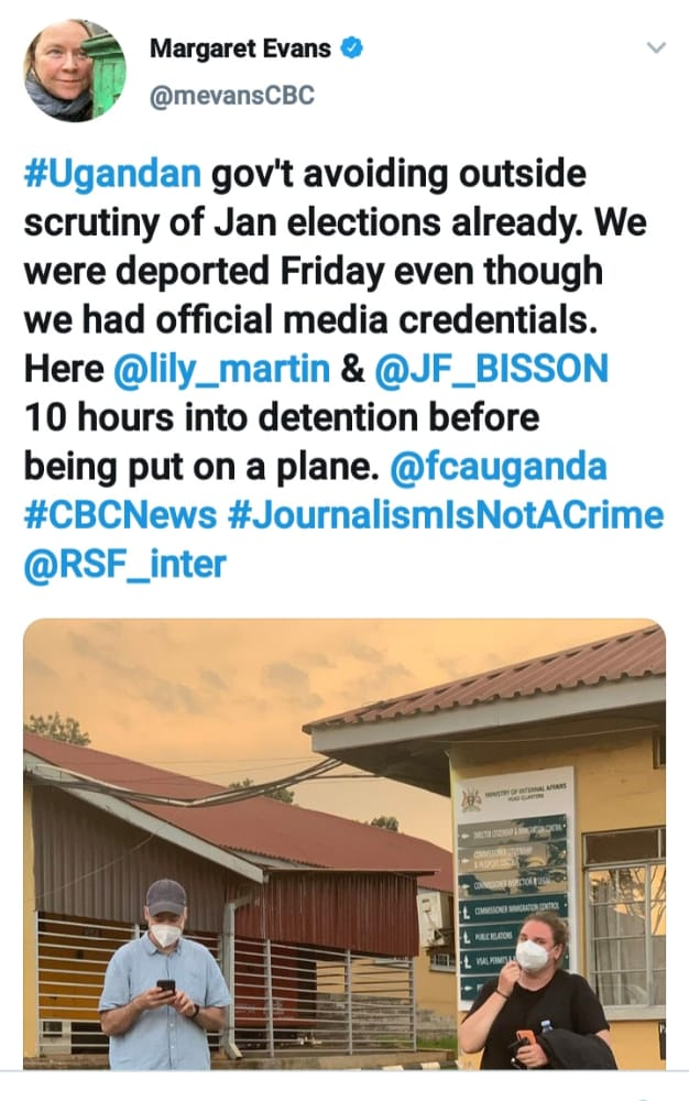 Mind Your Own Business! Gov't Deports Two International Journalists Ahead Of 2021 General Elections
