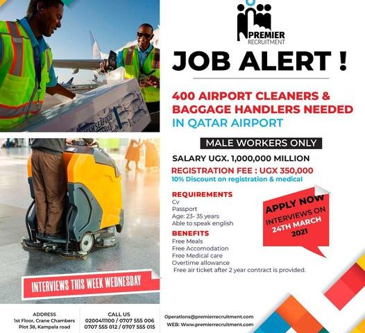 Job Slots: Resourceful Premier Recruitment Announces Over 400 Vacancies For Male Workers Only
