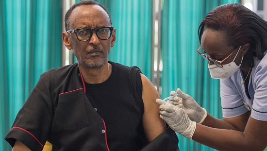 Rwanda's Kagame Challenges Other Leaders As He Becomes First East African President To Be Vaccinated