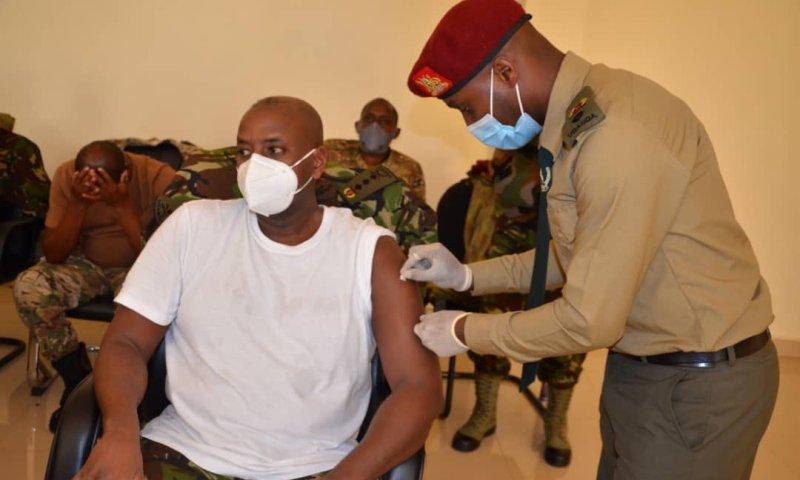 COVID-19: 1st Son & SFC Commander Muhoozi Kainerugaba Vaccinated