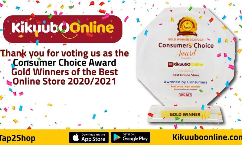 Kikuubo Online Scoops Consumer's Choice Award After Being Voted Gold Winner