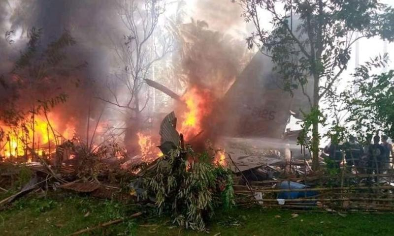 America's Air Force Plane Donated To Philippines Crashes, 50 Killed, 49 Wounded