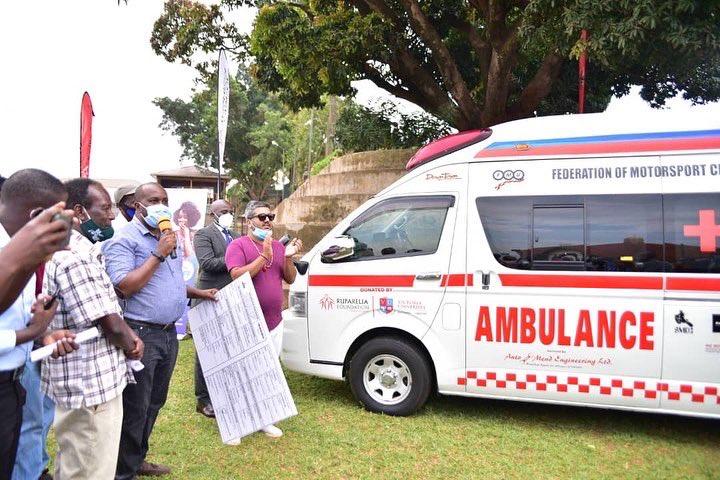 Ruparelia Foundation, Victoria University Donate Medical Ambulance To FMU