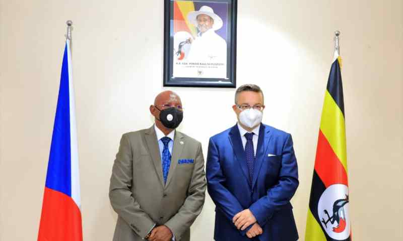 Uganda's Minister Odongo Meets Czech Republic's Tlapa, Vows To Strengthen Bilateral Cooperation