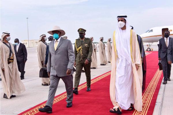 President Museveni Arrives In UAE For 2020 Dubai Trade Expo