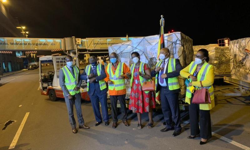 Uganda's 1st Ever Procured COVID-19 Vaccine Arrives At Entebbe