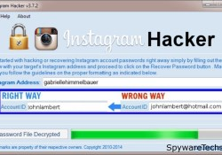 Remove Instagram Hacker Malware