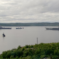 Severomorsk Two_aircraft_carriers_in_the_closed_city_of_Severomorsk