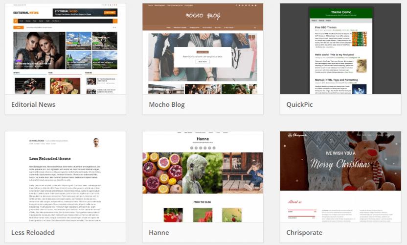 Contoh desain website standar minimalis