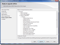 10.UpgradeTheEditionForSQLServer2008R2_ReadyToUpgradeWindow