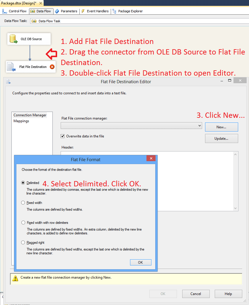 Example of SSIS Foreach Loop Item Enumerator and Dynamic OLEDB