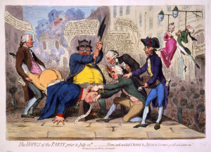 The Hopes of the Party, by James Gillray.  No Corruption Visible Here.