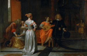 A Party, by Pieter de Hooch, 1675.  Almost as much fun as looking at DBCC PAGE output!