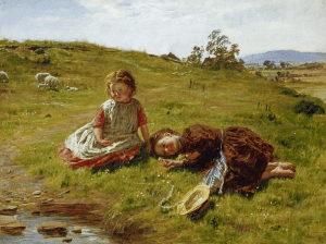 Spring, by William McTaggart no parse or convert happening here, just a couple of children enjoying the spring day!