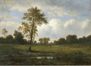 Théodore Rousseau - Landscape with Figures