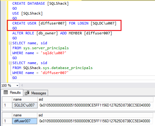 SQL Server Logins. Users and Security Identifiers (SIDs)