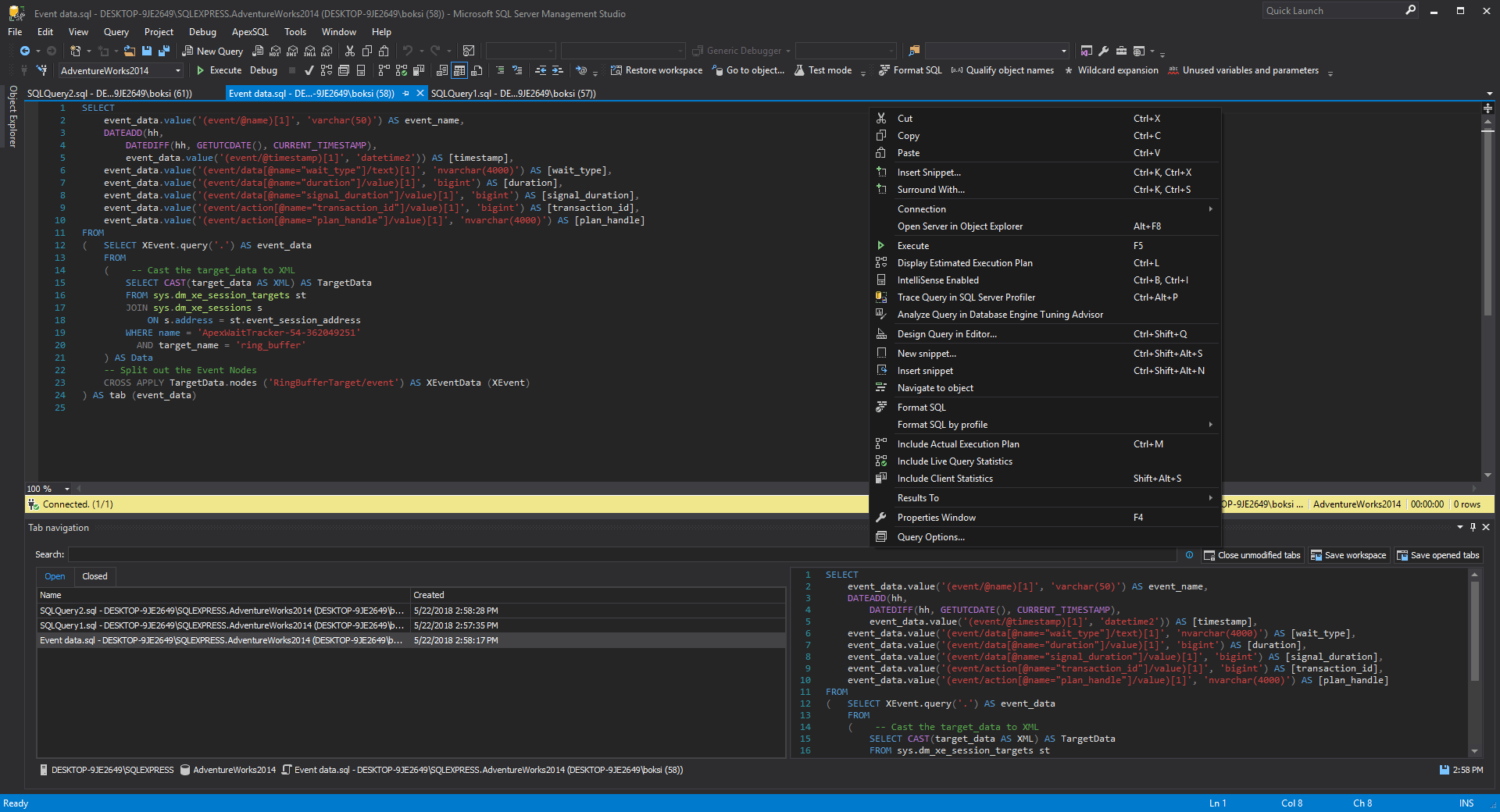 Tema Oscuro En Sql Server Management Studio