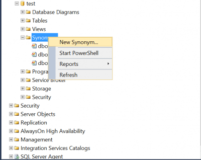 SQL Server Code simplification using synonyms