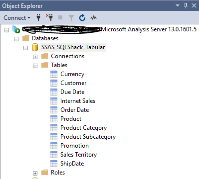 Accessing Tabular Model from SSAS.