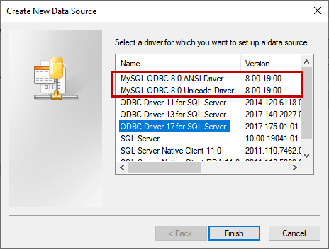 Create a new data source