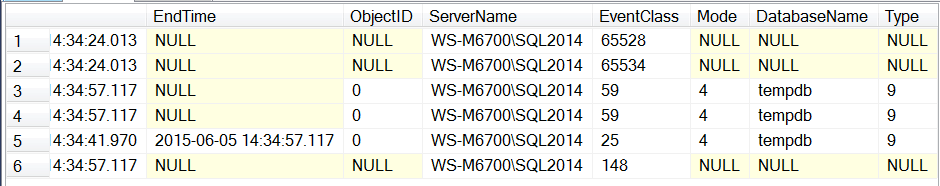 SSMS2014XE11-XE-Collected Trace Data