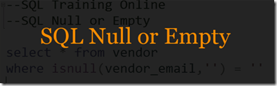 SQL Null or Empty String