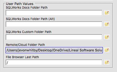 sqlworks cloud link filepath