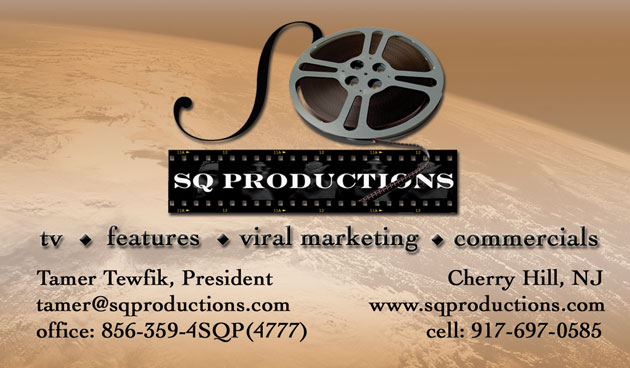 Graphic design sq productions business card reheart Gallery