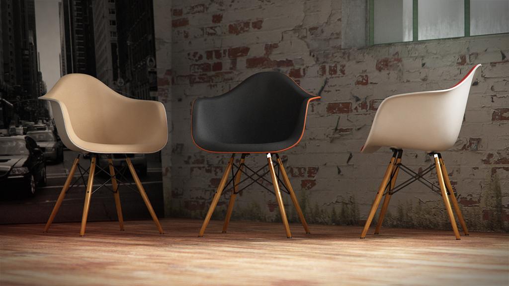 office chair base papasan rocking squarcina   vitra - eames plastic daw
