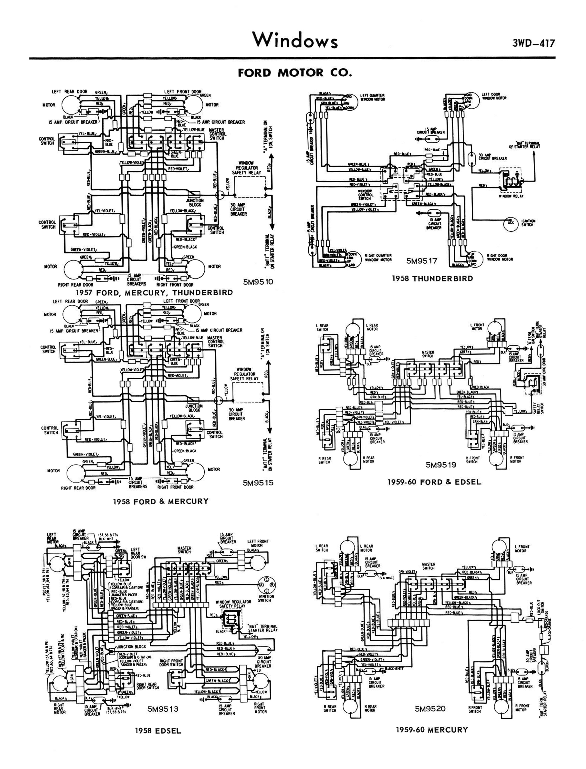 1958-68 Ford Electrical Schematics