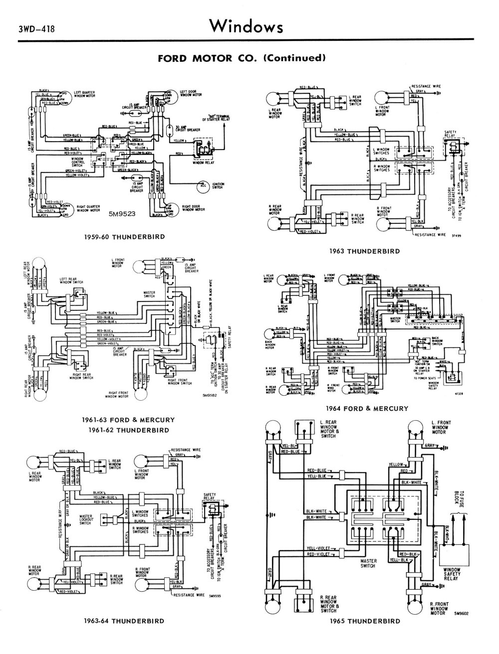 medium resolution of 6 1958 68 ford electrical schematics 6 1959 edsel power window wiring diagram