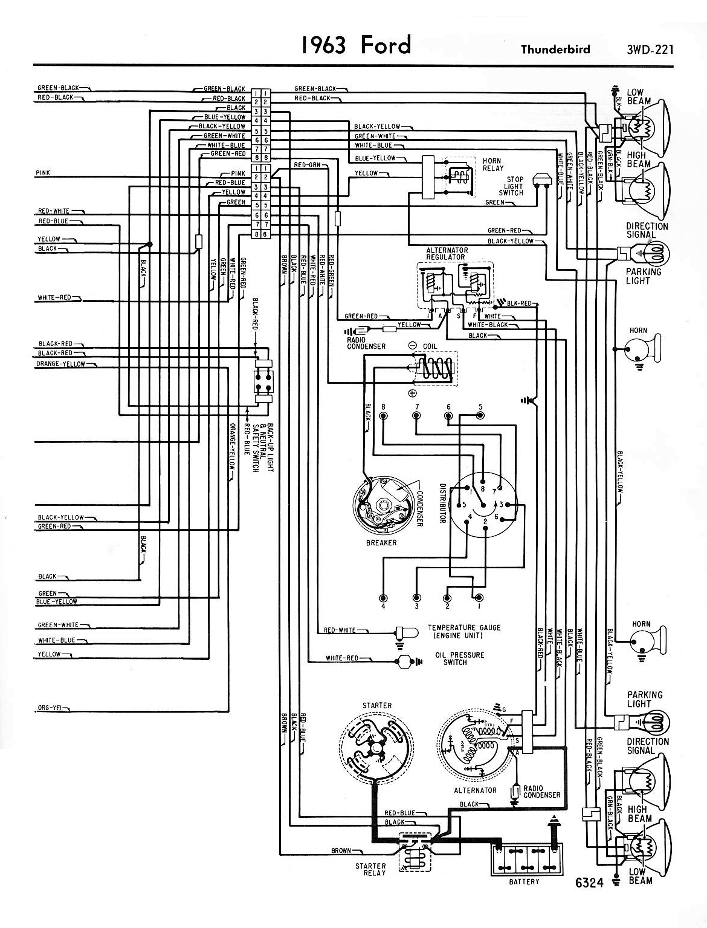 the wiring diagram from the ford shop manual is a little hard to