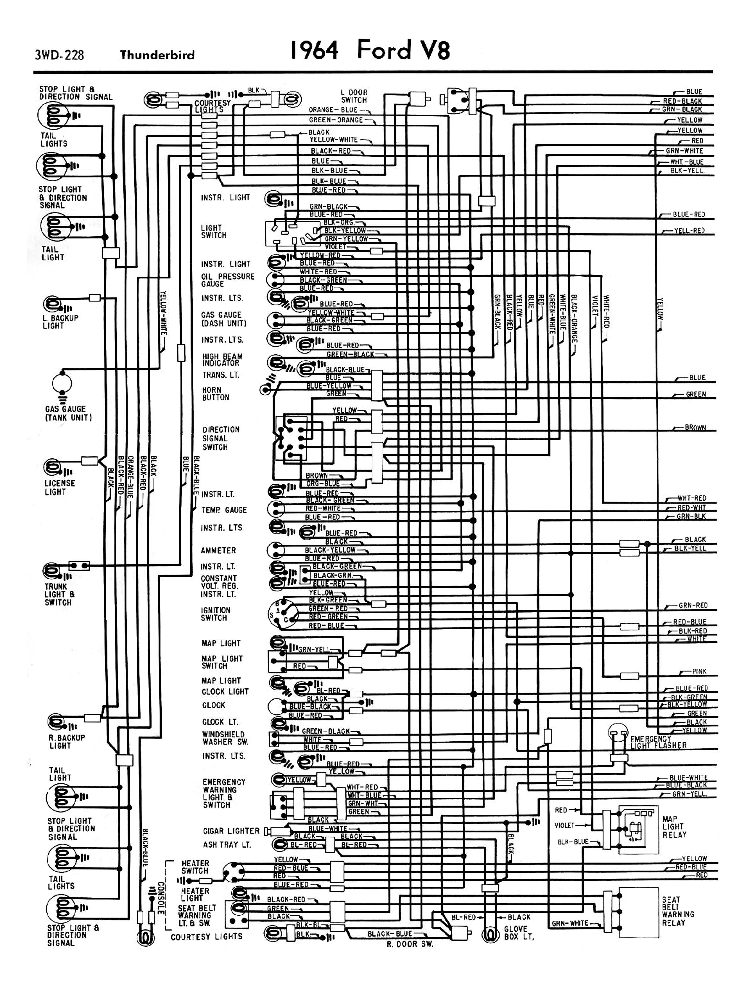 1958 thunderbird wiring diagram wiring diagram m2  1960 ford thunderbird wiring diagram #6