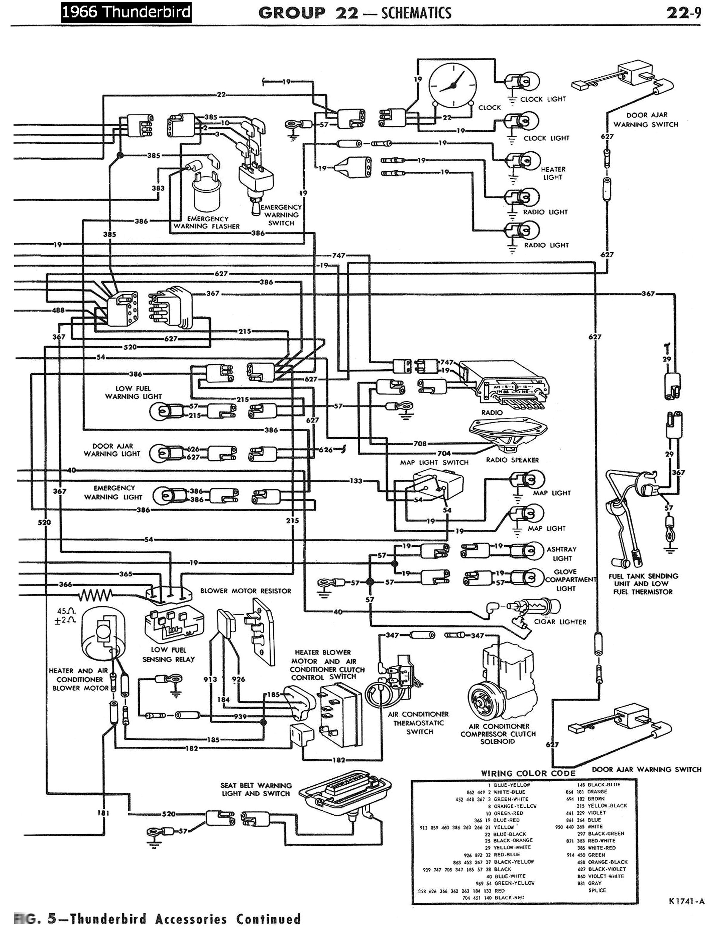 1966 thunderbird vacuum diagram