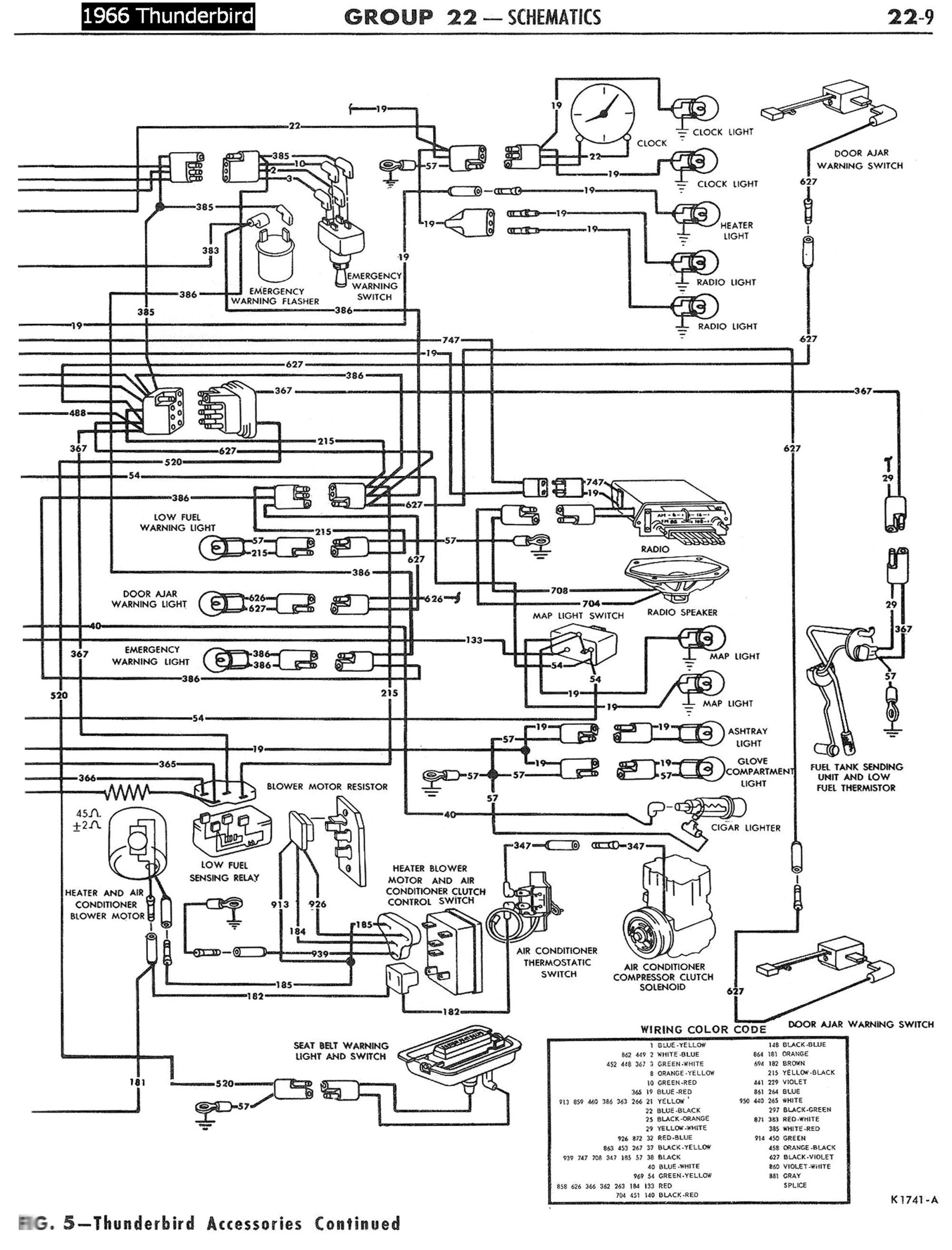 hight resolution of 1958 68 ford electrical schematics 1956 thunderbird wiring diagram 1966 thunderbird wiring diagram