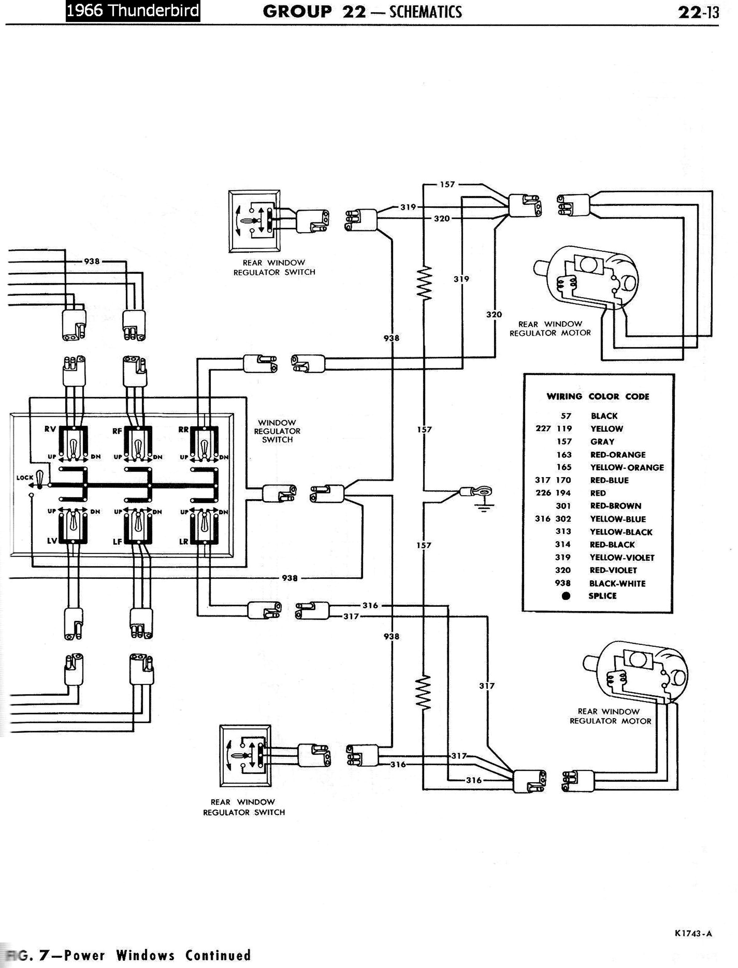 57 T Bird Power Window Wiring Diagram, 57, Free Engine