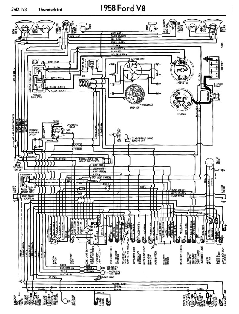 hight resolution of 1958 68 ford electrical schematics wiring diagram ford 1936 1934 ford wiring diagram