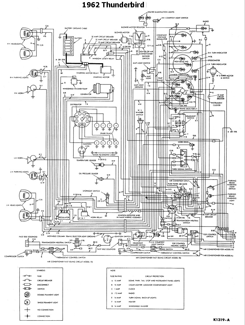 1965 thunderbird wiring harness diagram
