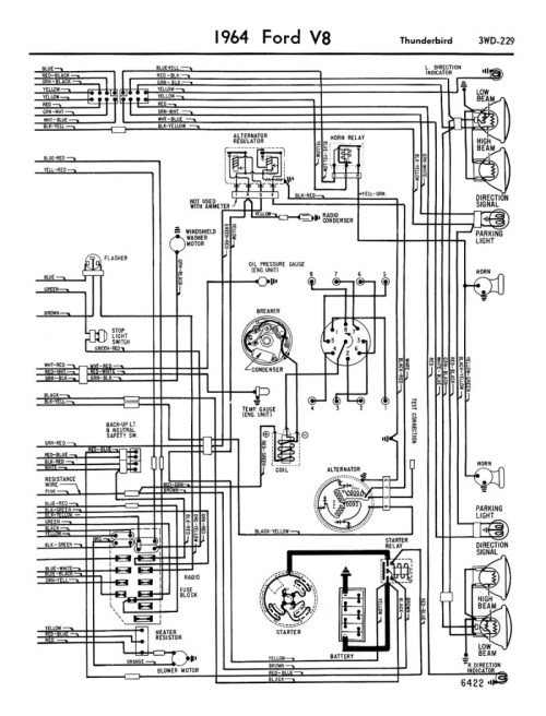 small resolution of 1958 68 ford electrical schematics 1960 thunderbird 1957 thunderbird