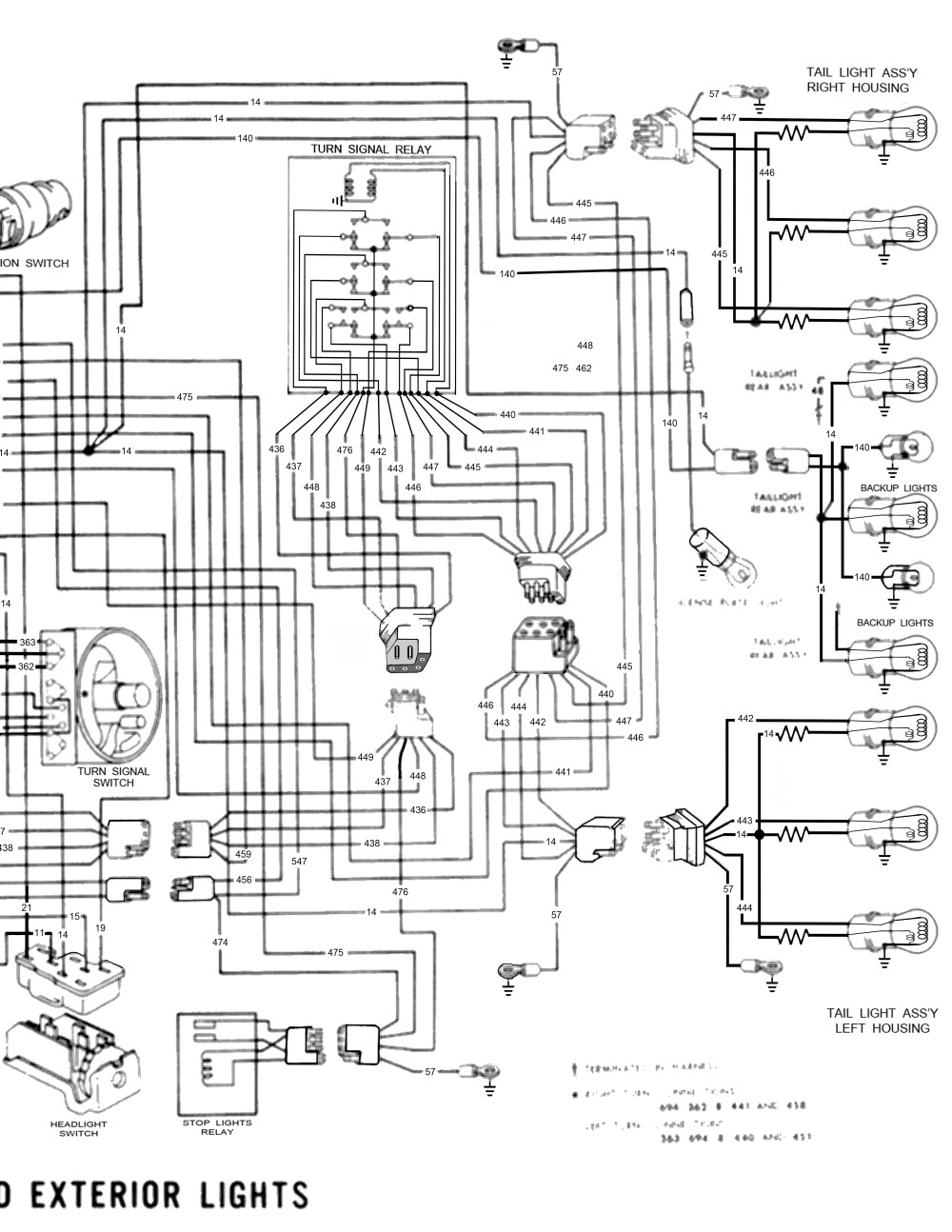 medium resolution of 1966 thunderbird exterior lights rh side of page 1958 68 ford electrical schematics