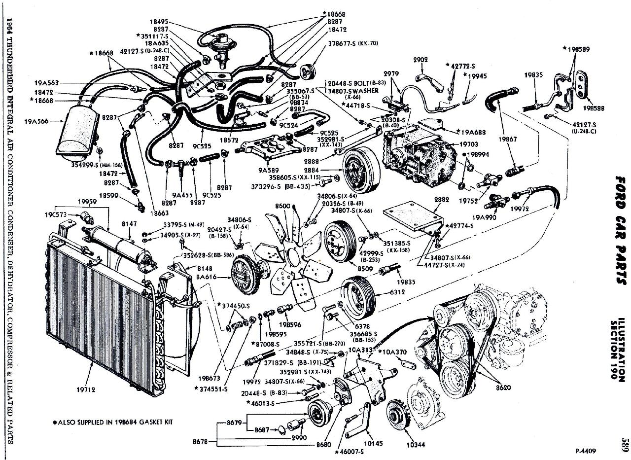 1964 Thunderbird Engine Diagram. 1964. Free Printable