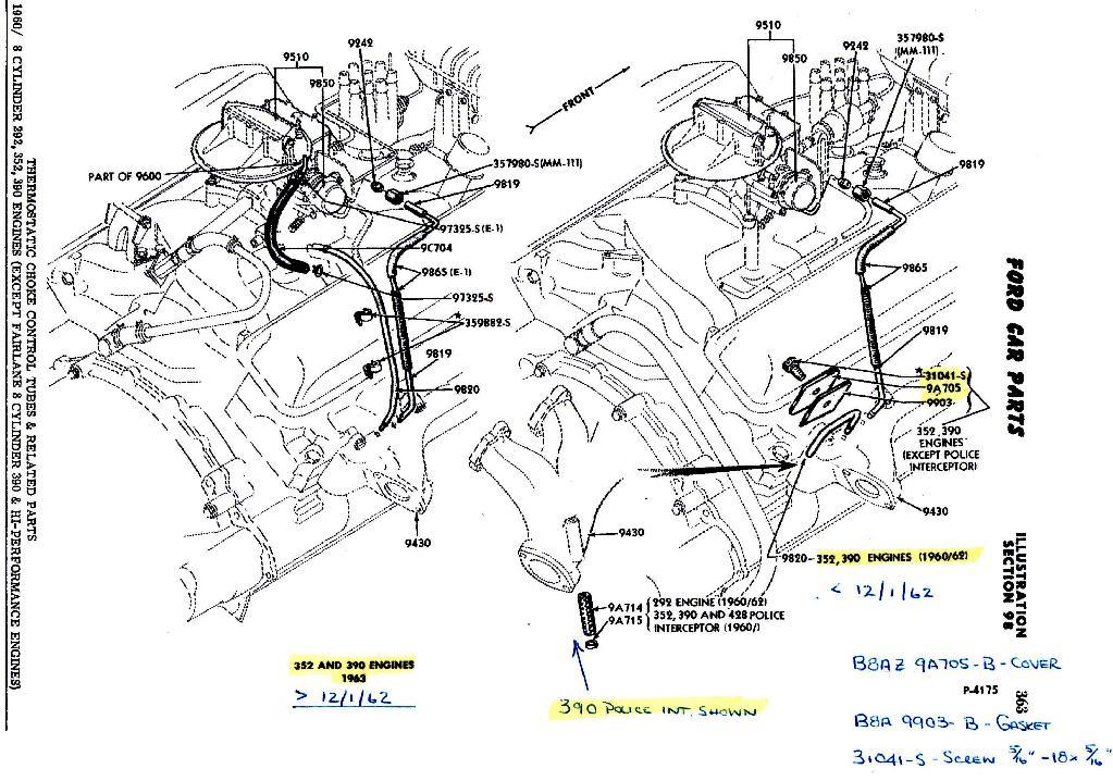 1964 Ford 390 Vacuum Diagram. Ford. Auto Wiring Diagram