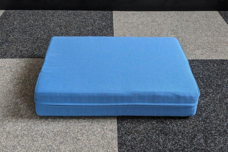 Blue cat pillow