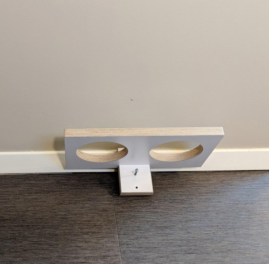 Chow Meow modern cat feeder install screw into stud