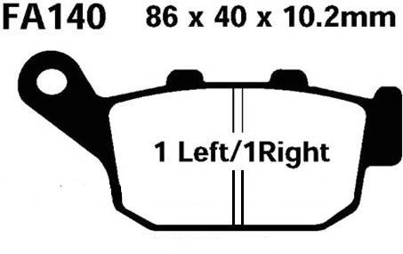 SPEEDFOUR 600 02-05 REAR BRAKE PADS Goldfren Sintered HH