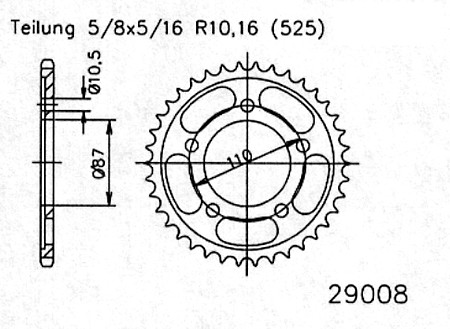 TIGER 800 & XC RENTHAL 48t Rear Sprocket Alternative Ratio