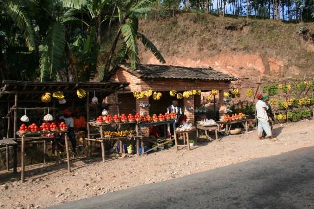 Tempting fruit stalls