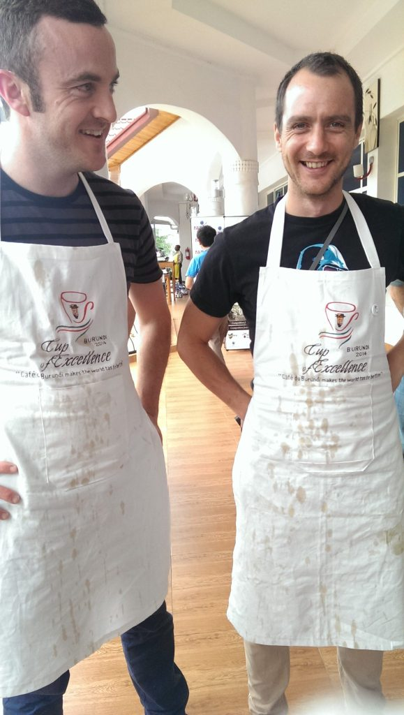Matt and Oli, dirtiest aprons of the week