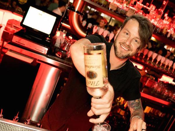 Bootlegger Bartender pouring a drink